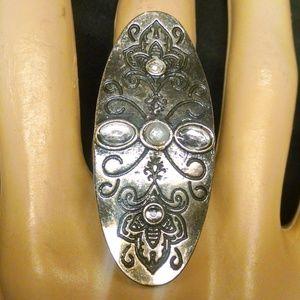 Elegant Faux Pearl Rhinestones Sexy Ring